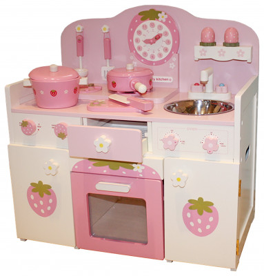 Liberty House Toys Wooden Play Kitchen With Accessories