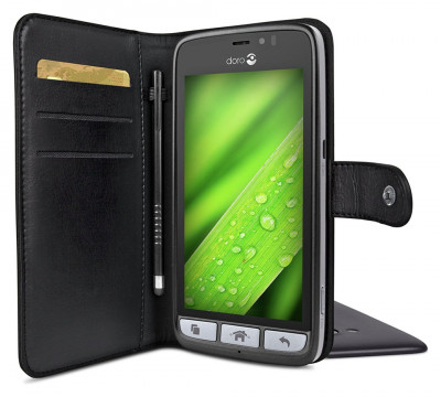 promo code 472cb 20b34 Argos Product Support for Doro 8030 Wallet Mobile Phone Case - Black ...