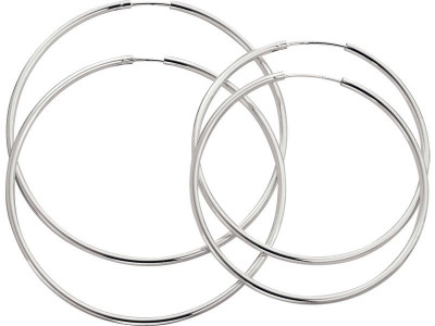 bc6b26841 Argos Product Support for Revere Sterling Silver Set of 2 Large Hoop ...