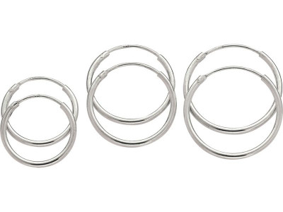 55130025c Argos Product Support for Revere Sterling Silver Set of 3 Hoop ...