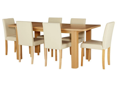 Argos product support for shenley ext dining table 6 cream chairs support options workwithnaturefo