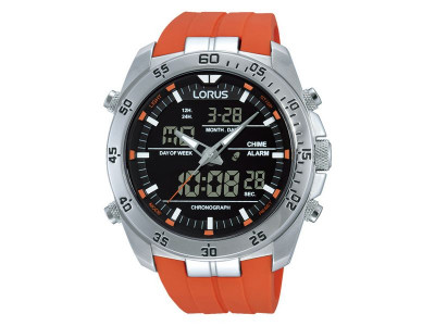 Argos Product Support For Lorus Mens Orange Digital And Analogue