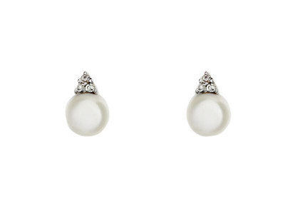 a62e8d46ac54d Argos Product Support for Revere 9ct Yellow Gold Diamond Pearl Stud ...
