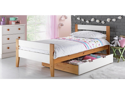 Argos Product Support For Two Tone Wooden Single Bed With Drawer