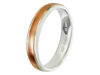 Argos Product Support for 9ct Rose Gold and Sterling Silver 4mm