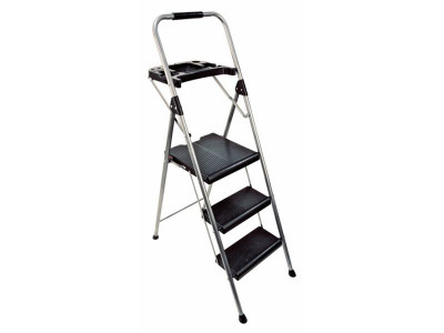Marvelous Argos Product Support For Abru 3 Step Steel Ladder And Tool Bralicious Painted Fabric Chair Ideas Braliciousco