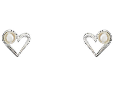 040702555302b Argos Product Support for Sterling Silver Fresh Water Pearl Heart ...