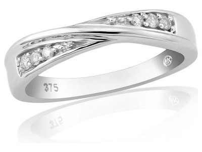 Argos Product Support for 9ct White Gold Diamond Set Twist Ring