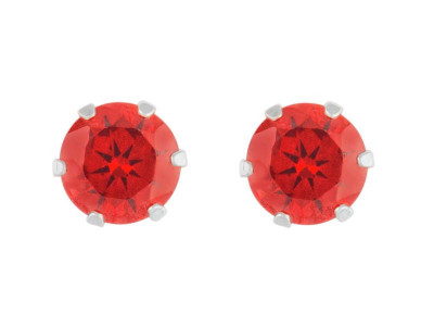 b4e0246cdde38 Argos Product Support for Revere Sterling Silver Red Cubic Zirconia ...