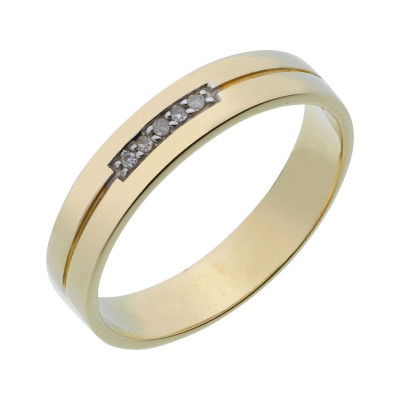 4MM   SIZE N REVERE 9CT GOLD DIAMOND SET /'I LOVE YOU/' WEDDING RING