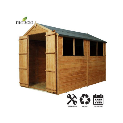 mercia shiplap apex wooden shed installation included 10x6ft